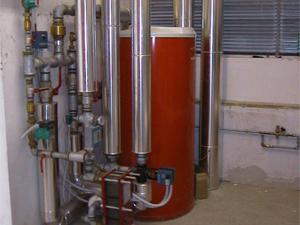 impianto produzione acqua calda Piscina Passetto Ancona