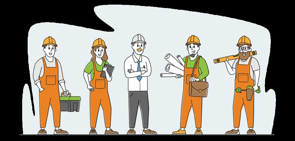 i tecnici di un'azienda di impianti