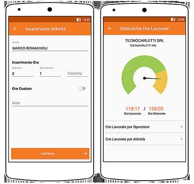 software gestione commesse: rapportini di lavoro via app