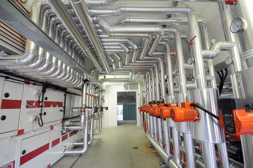 centrale termofrigorifera con pompe di calore geotermiche