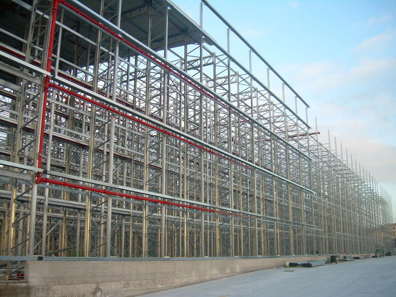 impianto antincendio magazzino automatizzato
