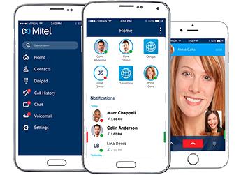 Organizzazione aziendale integrata al sistema di comunicazione Mitel