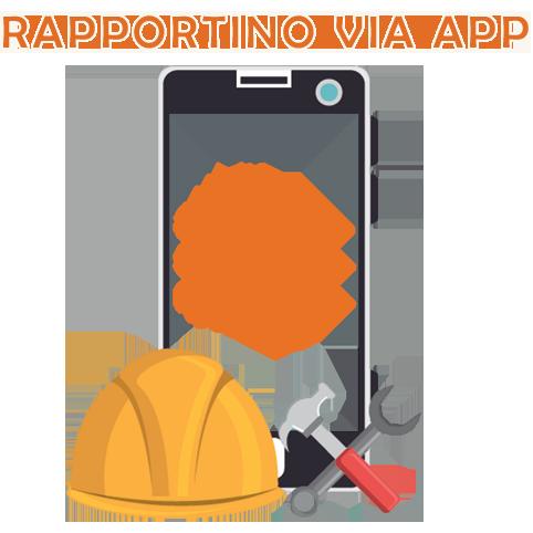 Rapportino di lavoro inserito e gestito via app